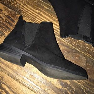 Primark Shoes - Black Suede Ankle Booties